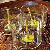 Набор для изготовления чайной свечи с содержанием воска 24г (контейнер чайной свечи, фиксатор фитиля, фитиль), фото 2