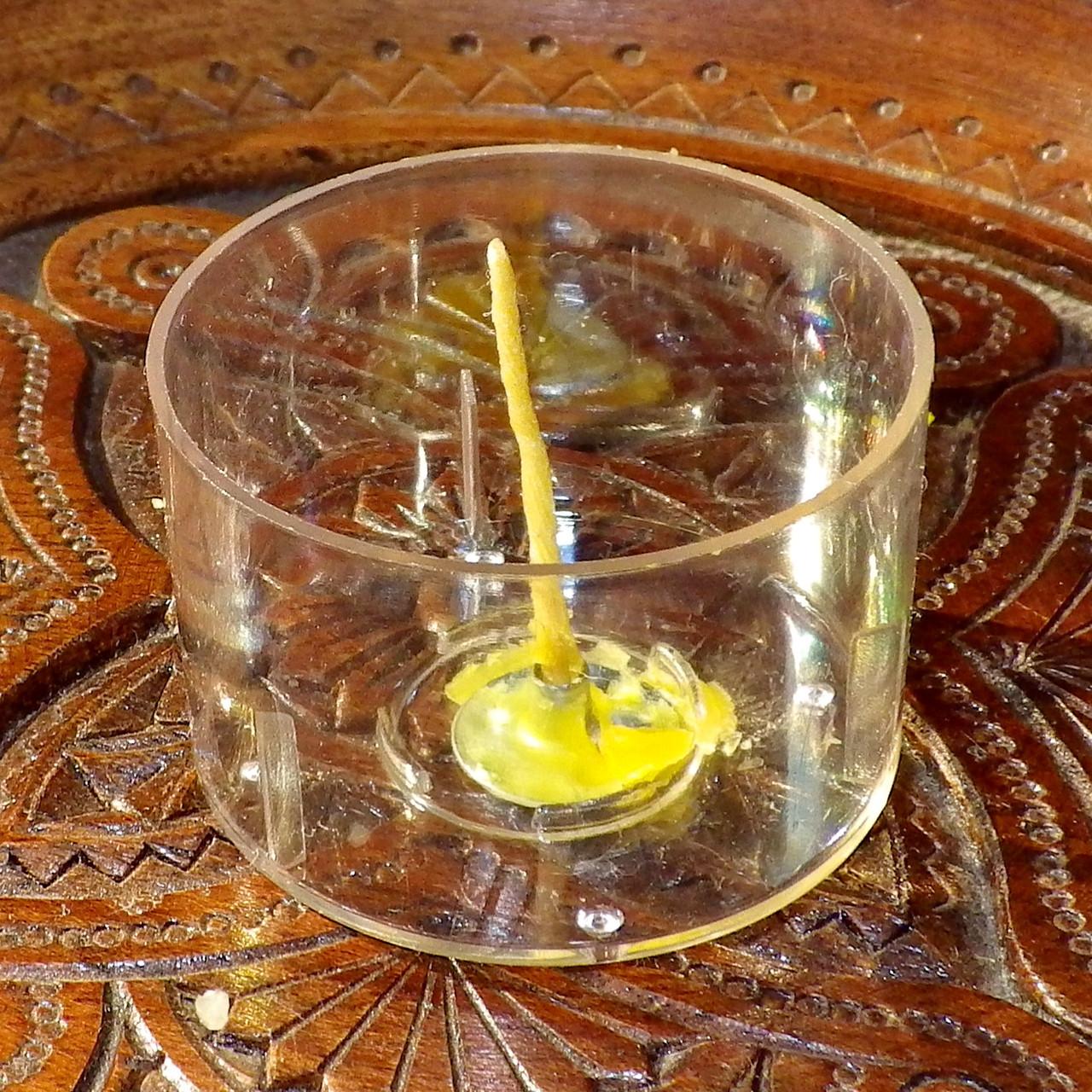 Набор для изготовления чайной свечи с содержанием воска 24г (контейнер чайной свечи, фиксатор фитиля, фитиль)