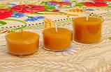 Набор для изготовления чайной свечи с содержанием воска 24г (контейнер чайной свечи, фиксатор фитиля, фитиль), фото 7