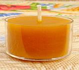 Набор для изготовления чайной свечи с содержанием воска 18г (контейнер чайной свечи, фиксатор фитиля, фитиль), фото 6