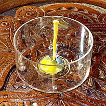 Набор для изготовления чайной свечи с содержанием воска 18г (контейнер чайной свечи, фиксатор фитиля, фитиль)