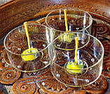 Набор для изготовления чайной свечи с содержанием воска 18г (контейнер чайной свечи, фиксатор фитиля, фитиль), фото 2