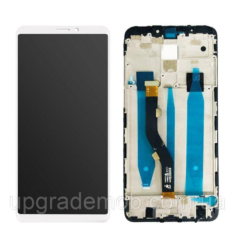 Дисплей Meizu Note 8 M822/M8 Note тачскрин сенсор модуль, белый, в рамке