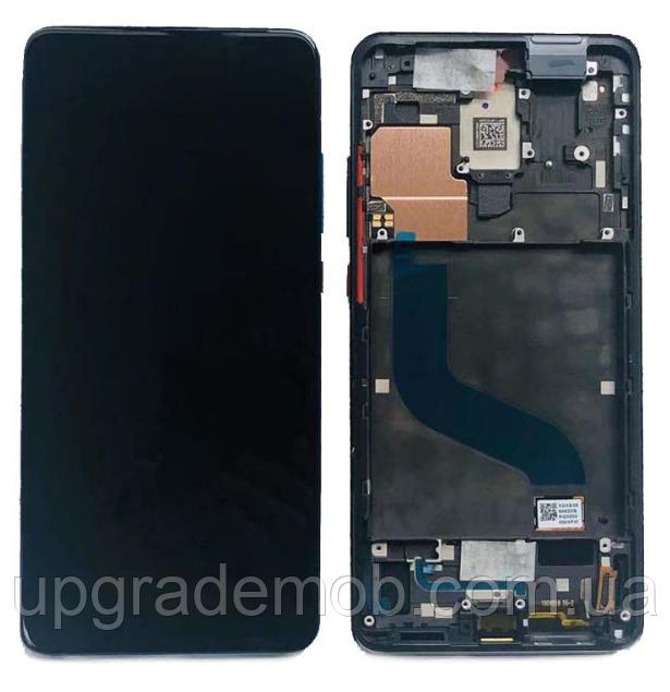 Дисплей Xiaomi Mi9T/Mi 9T Pro/Redmi K20/Redmi K20 Pro тачскрин сенсор модуль, черный, в рамке, Amoled,