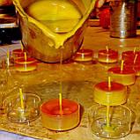 Набор для изготовления чайной свечи с содержанием воска 44г (контейнер чайной свечи, фиксатор фитиля, фитиль), фото 2