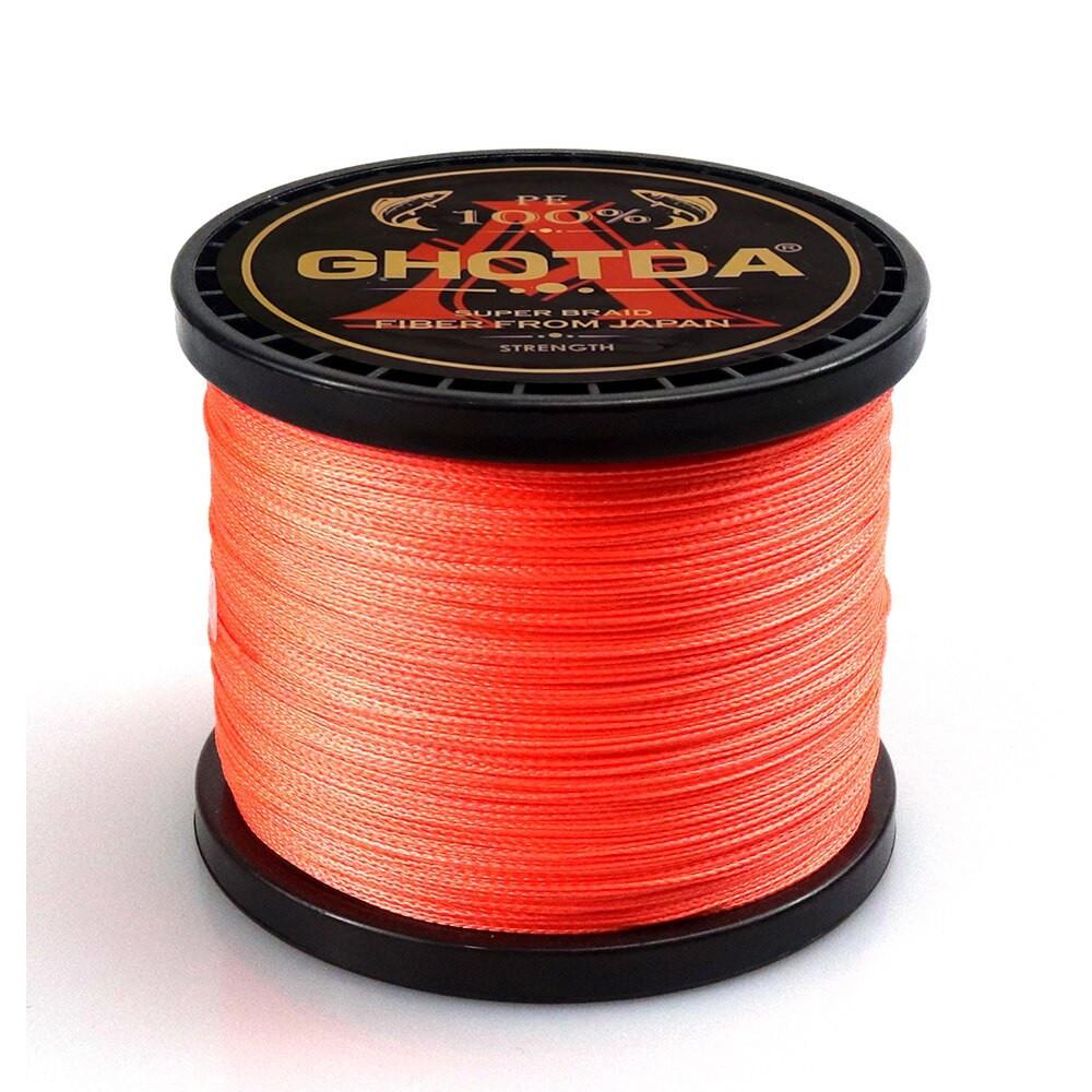 Рыболовный шнур GHOTDA плетеный 150м 4жилы 0.23мм 12.7кг, оранжевый
