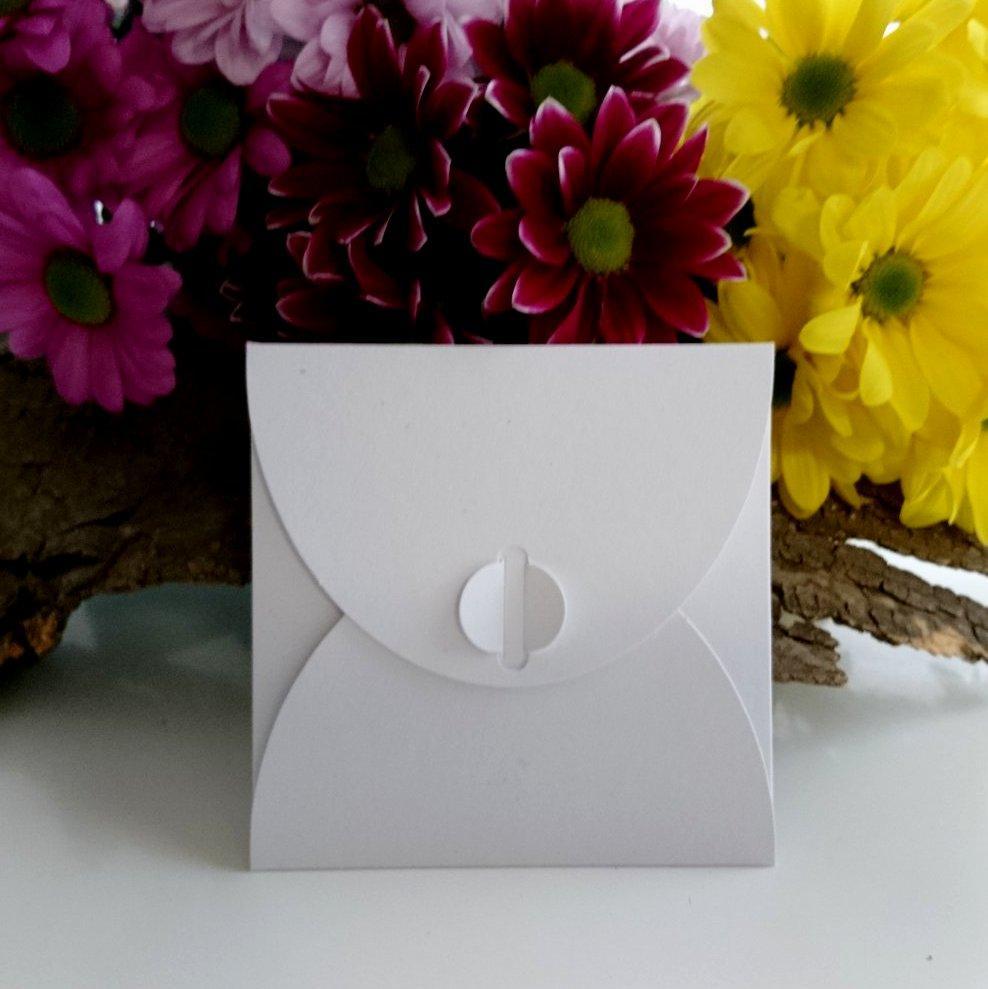 Подарунковий конверт 100х100 мм з кольорового дизайнерського картону