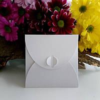 Подарунковий конверт 100х100 мм з кольорового дизайнерського картону, фото 1