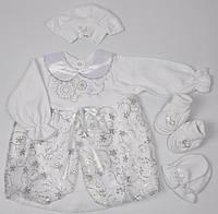 Белое платье для крещения малышки 80 размер