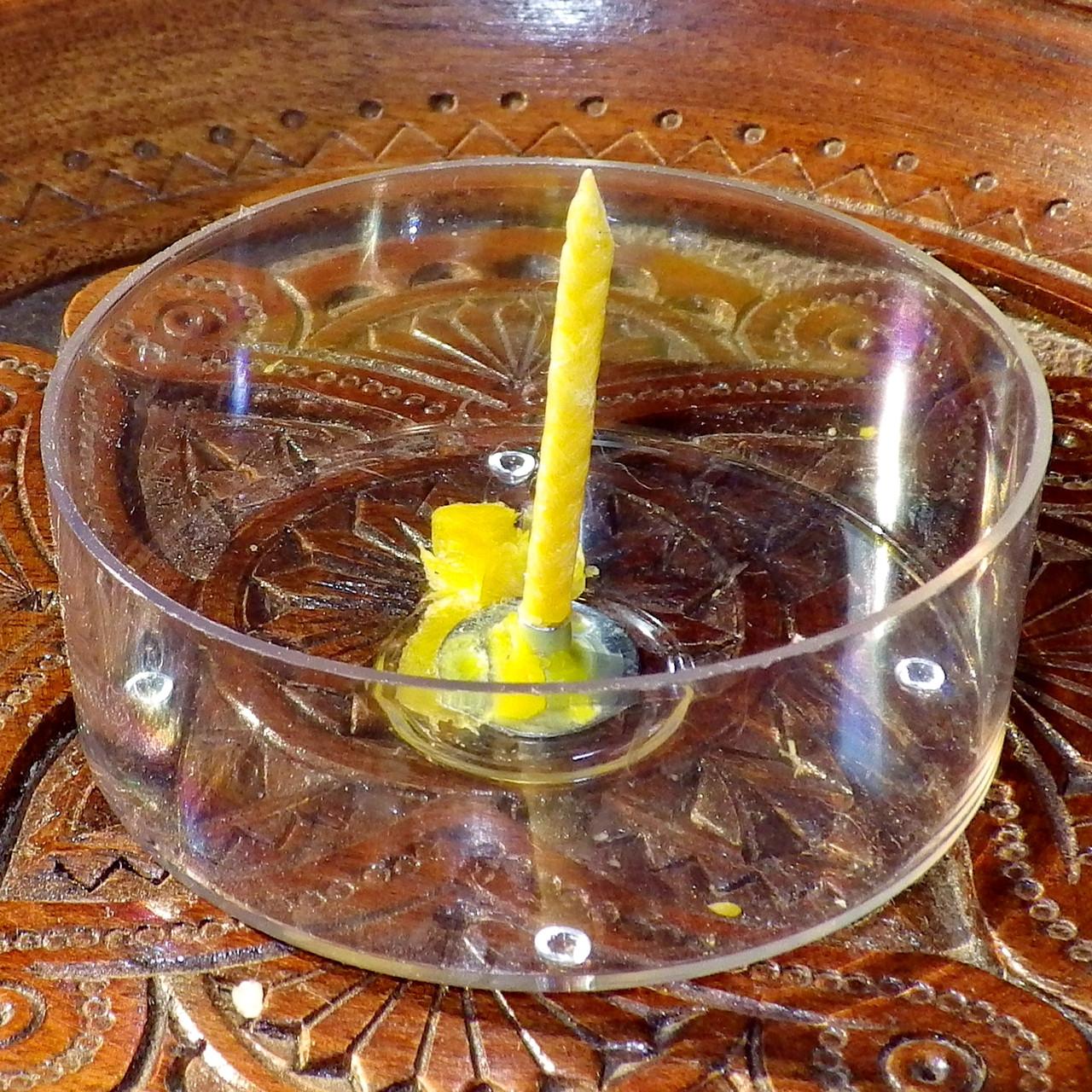 Набор для изготовления чайной свечи с содержанием воска 44г (контейнер чайной свечи, фиксатор фитиля, фитиль)