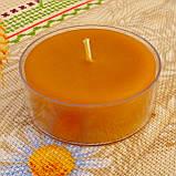 Набор для изготовления чайной свечи с содержанием воска 44г (контейнер чайной свечи, фиксатор фитиля, фитиль), фото 5