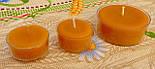 Набор для изготовления чайной свечи с содержанием воска 44г (контейнер чайной свечи, фиксатор фитиля, фитиль), фото 6
