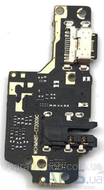 Шлейф Xiaomi Redmi Note 8T, с разъемом зарядки, с разъемом наушников, с микрофоном, плата зарядки
