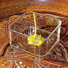 Набор для изготовления квадратной чайной свечи (контейнер чайной свечи, фиксатор фитиля, фитиль)
