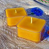 Набор для изготовления квадратной чайной свечи (контейнер чайной свечи, фиксатор фитиля, фитиль), фото 6