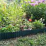 Бордюрная лента садовая волнистая коричневая Bradas 15см х 9м, фото 3