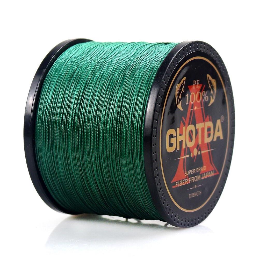 Рыболовный шнур GHOTDA плетеный 150м 4жилы 0.5мм 36.2кг, зеленый