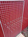 Торговая сетка решетка ячейка 5 см серый металлик под заказ от производителя, фото 6