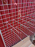 Торговая сетка решетка ячейка 5 см серый металлик под заказ от производителя, фото 2