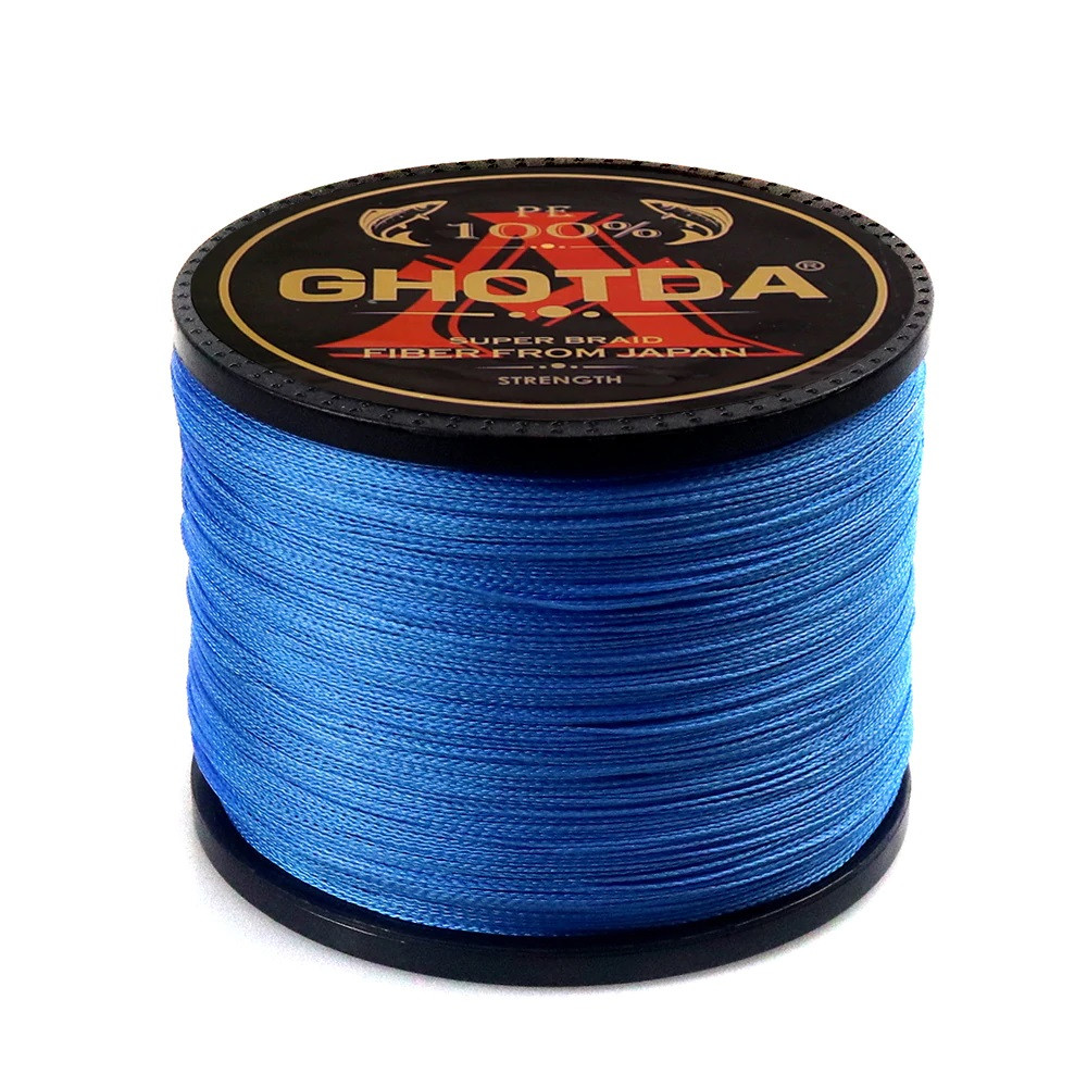 Рибальський шнур GHOTDA плетены 150м 8жил 0.16 мм 9.9 кг, синій