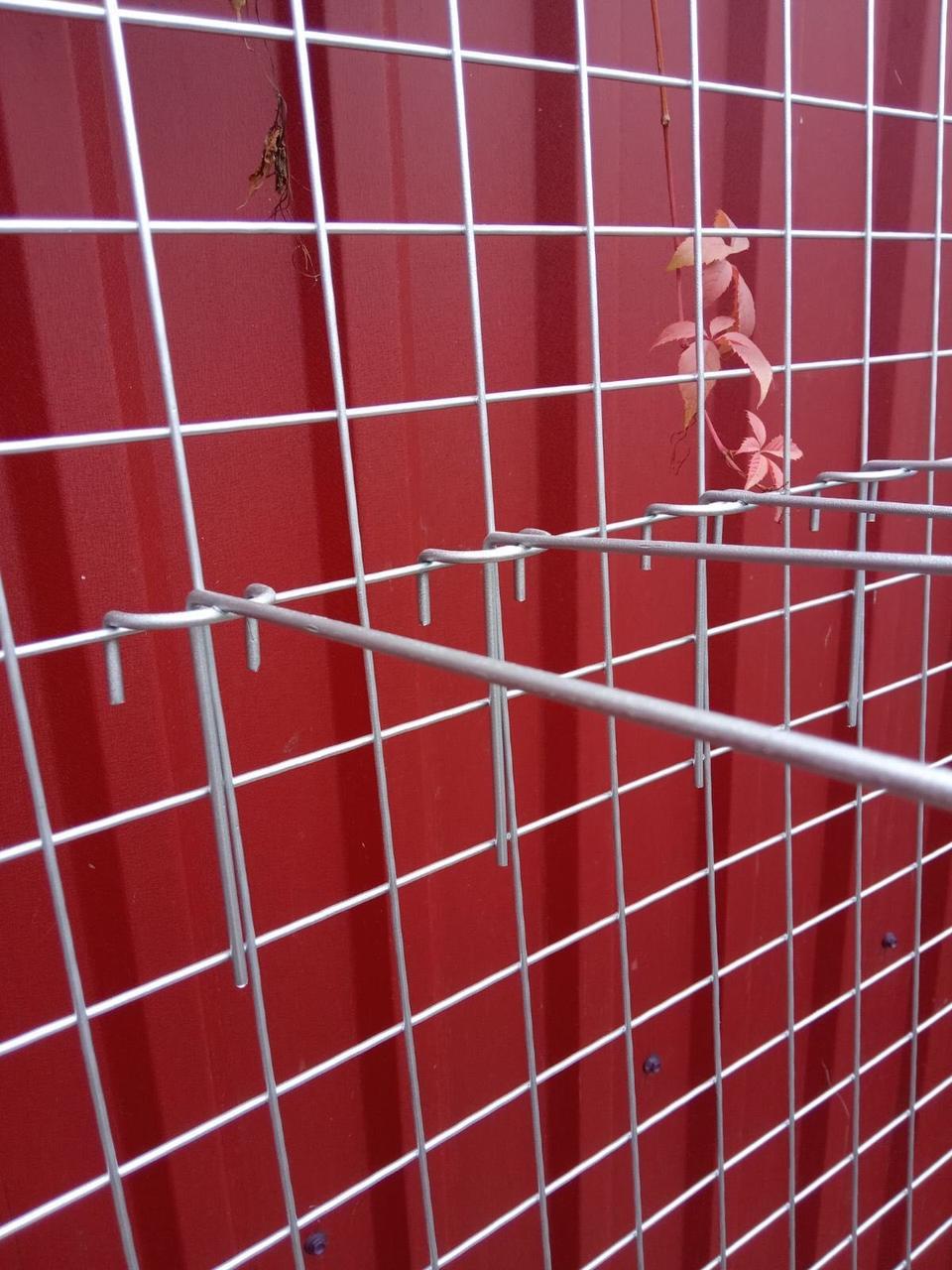 Торгова сітка сітка осередок 5 см сірий металік під замовлення від виробника