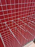 Торгова сітка сітка осередок 5 см сірий металік під замовлення від виробника, фото 4