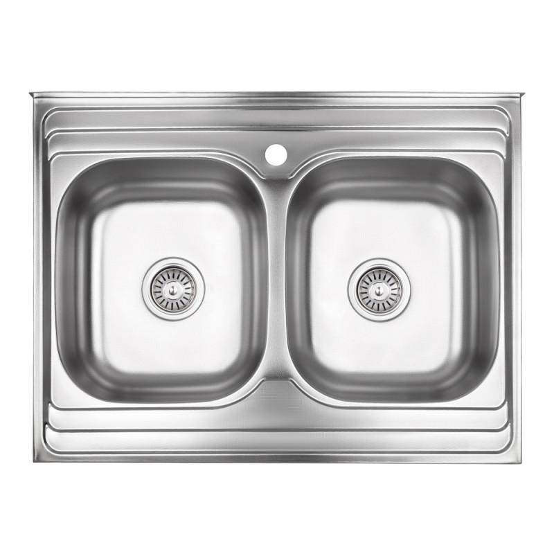 Кухонная мойка Lidz 6080 Decor 0,8 мм (LIDZ6080DEC08)