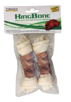 Лакомства для собак кость жилистая узловая KingBone Duck, с уткой, 11см, 30гр, 2шт/уп