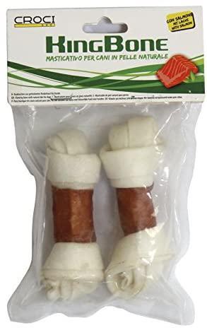 Лакомства для собак кость жилистая узловая KingBone Salmon, с лососем, 11см, 10гр, 2шт/уп