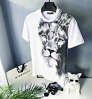 Мужская стильная брендовая футболка (белая) GIVENCHY / Cotton , polyester