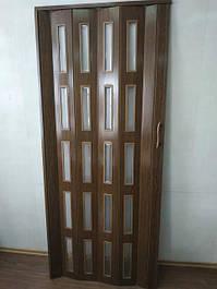 Дверь гармошка остекленная Эко 860х2030х6мм