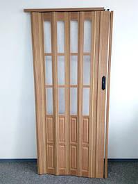 Двери гармошка полустекло 1020х2030х12мм