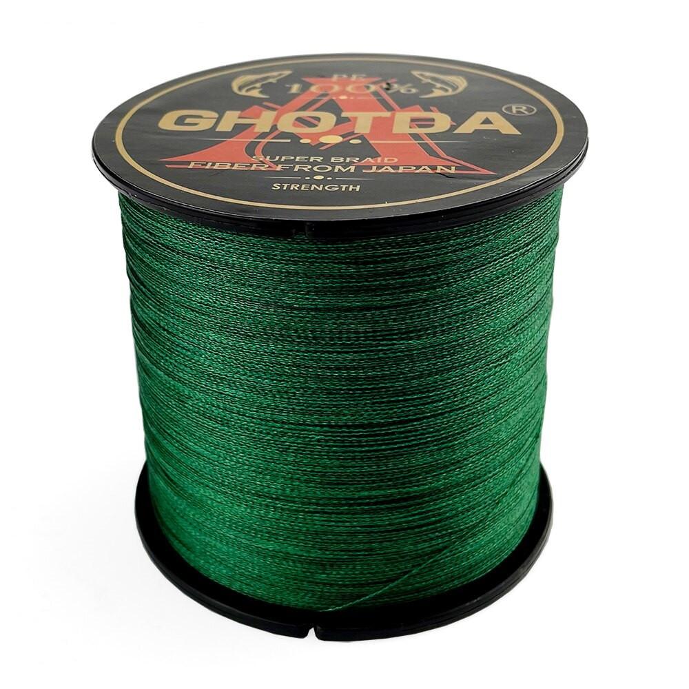 Рыболовный шнур GHOTDA плетеный 150м 8жил 0.23мм 14кг, зеленый
