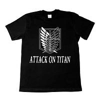 """Футболка с принтом надписью """"Атака Титанов. Аниме"""""""
