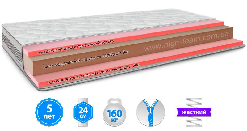 Ортопедичний безпружинний матрац Platinum Hercules Noble/Платинум Геркулес Highfoam ™
