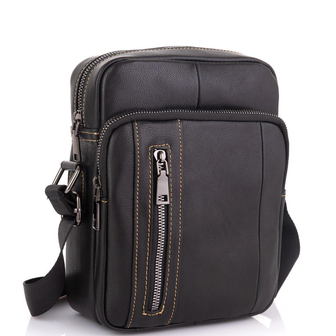 Мужская сумка через плечо из натуральной кожи Tiding Bag N2-9801A
