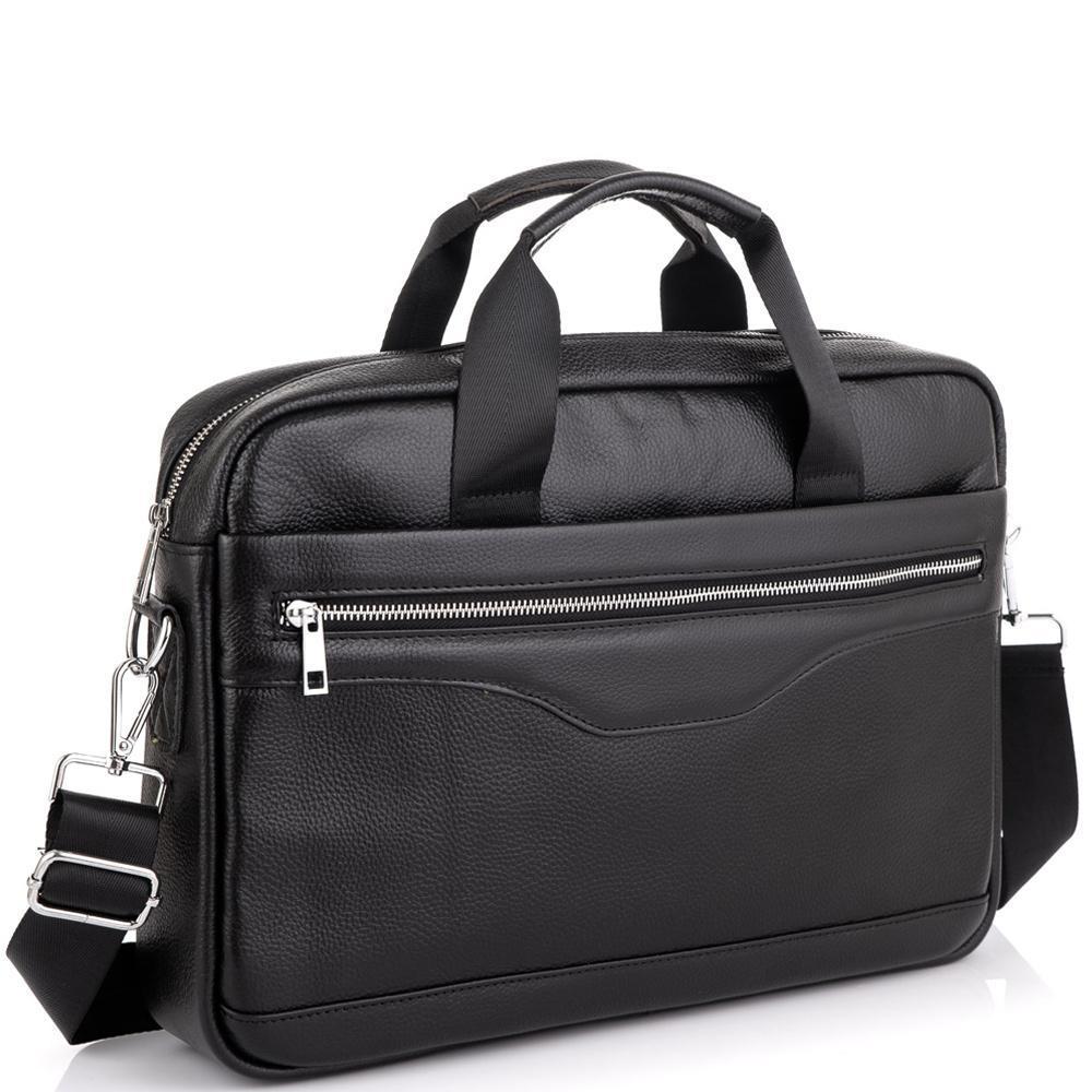 Мужская кожаная деловая сумка для ноутбука Tiding Bag A25-1128-1A