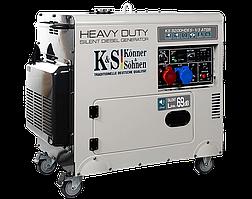 Генератор дизельний Konner&Sohnen Heavy Duty KS 9200HDES-1/3 ATSR (Euro V) (7.5 кВт, 3ф~)