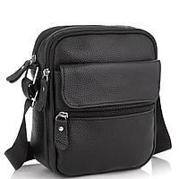 Мужская кожаная сумка черная через плечо Tiding Bag NM20-1812A, фото 1