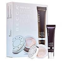 Набор для макияжа BECCA Cosmetics Prep & Set Matte Never Flat Kit