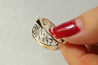Оригинальное кольцо из серебра с золотом