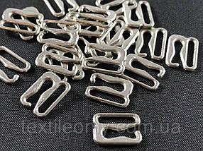 Гачок на бретелі 10 мм колір нікель (срібло)