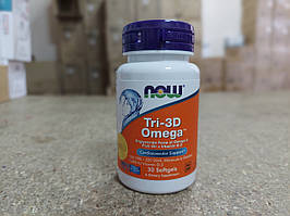 Витамин Now Foods, Рыбий жир Омега Tri-3D + витамин D-3