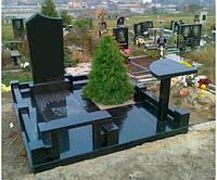Памятник из гранита габбро П - С 08