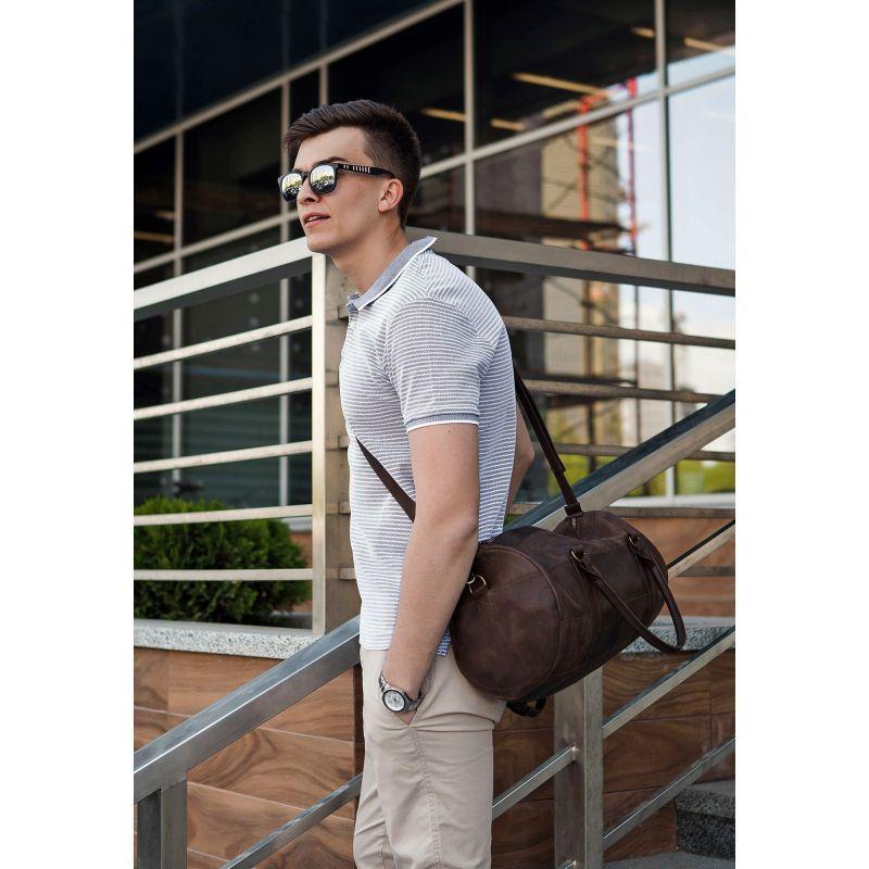 Мужская кожаная сумка Harper темно-коричневая