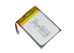 Аккумулятор литий-полимерный 3,7V 450mAh