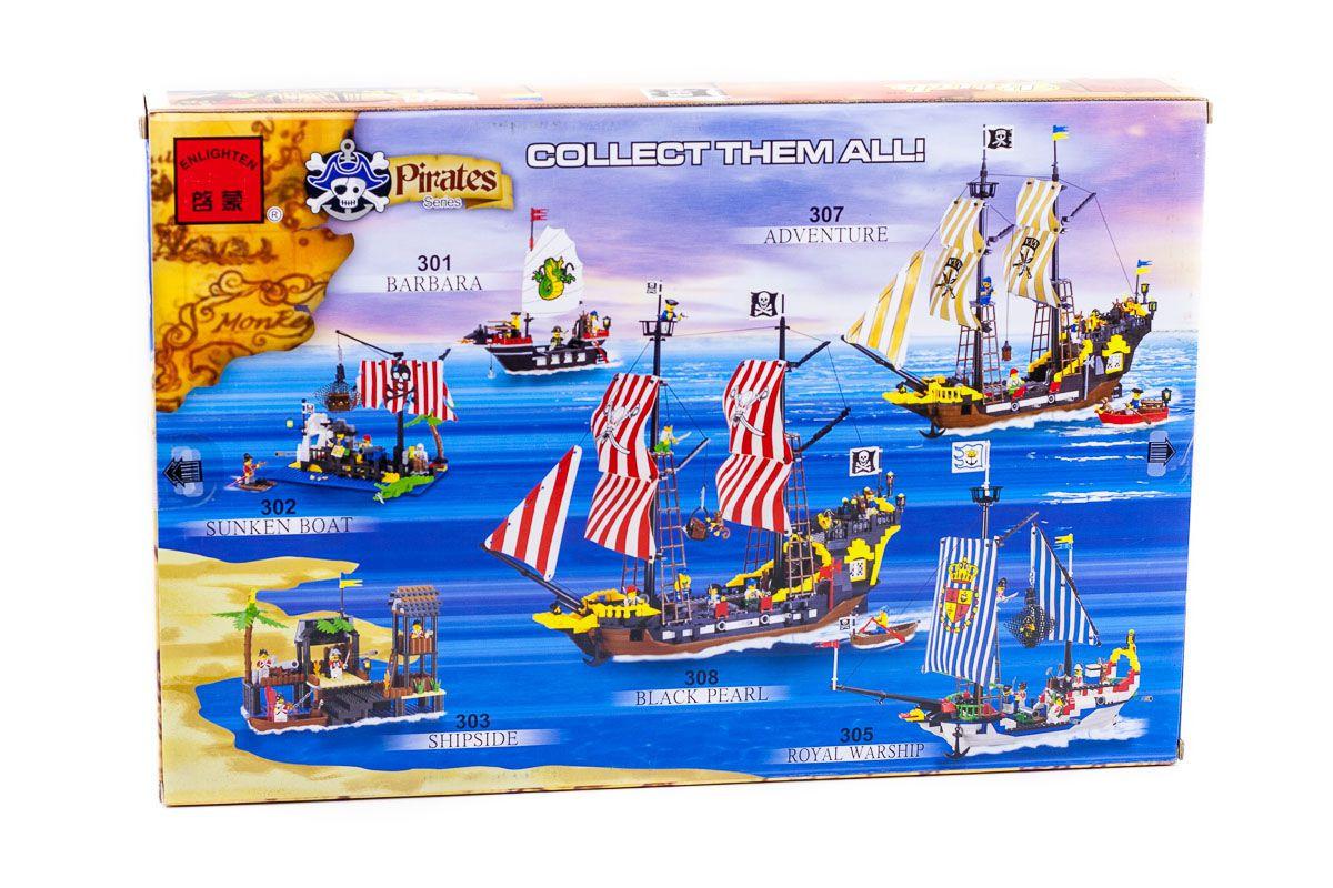 """Конструктор """"Піратський корабель"""" 590 деталей Brick-307"""