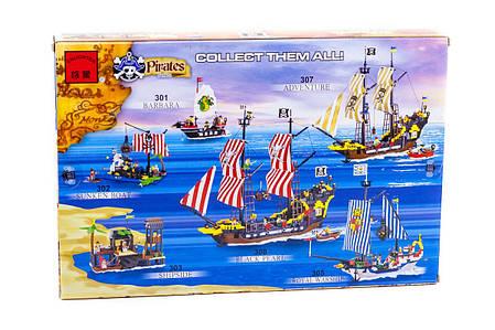 """Конструктор """"Піратський корабель"""" 590 деталей Brick-307, фото 2"""