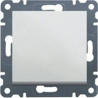 Выключатель 1-клавишный проходной Lumina-2, белый