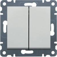 Выключатель 2-клавишный Lumina-2, белый